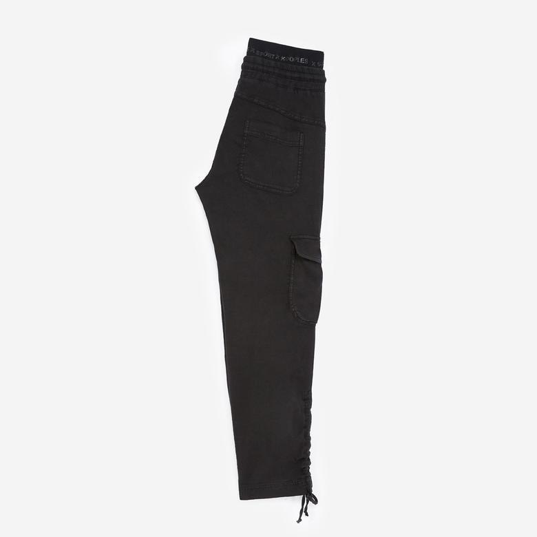 The Kooples Logolu Kadın Siyah Kargo Pantolon