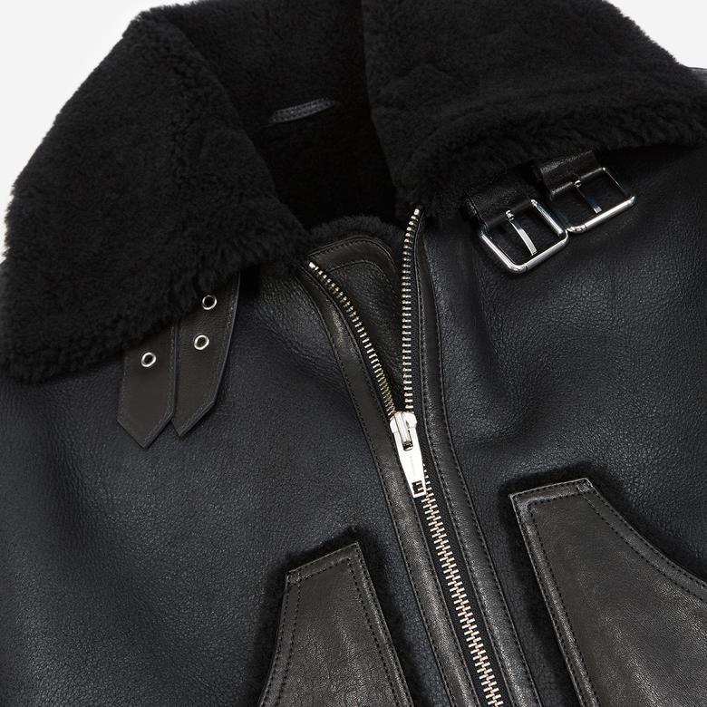 The Kooples Kadın Siyah Deri Ceket