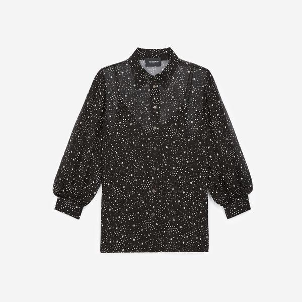 The Kooples Yıldız Baskılı Kadın Siyah Gömlek