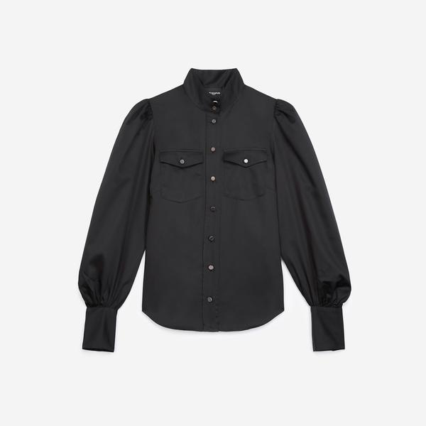 The Kooples Kadın Siyah Gömlek