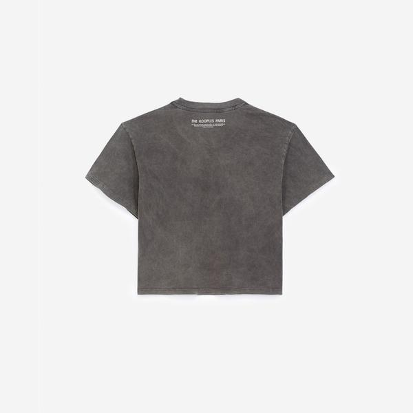The Kooples Baskılı Kadın Gri T-Shirt