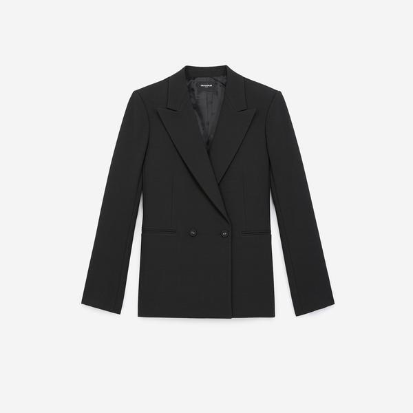 The Kooples Kadın Siyah Revers Yaka Ceket