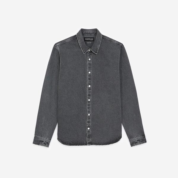 The Kooples Erkek Siyah Jean Gömlek