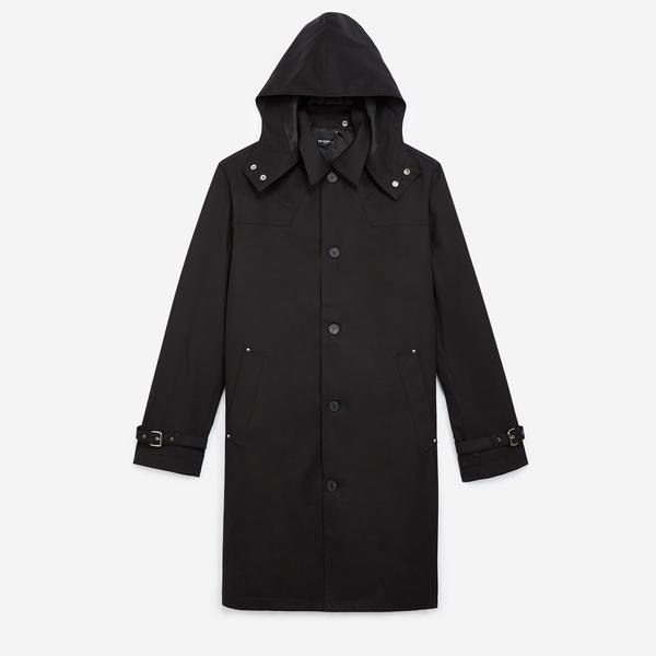 The Kooples Kapüşonlu Erkek Siyah Ceket
