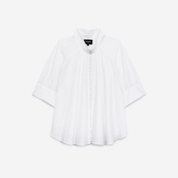 The Kooples Kadın Loose Fıt Beyaz Gömlek