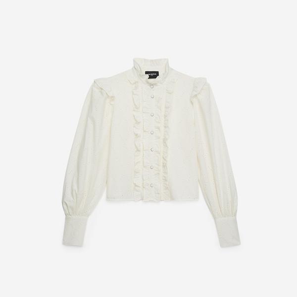The Kooples Kadın Ekru Cotton Gömlek
