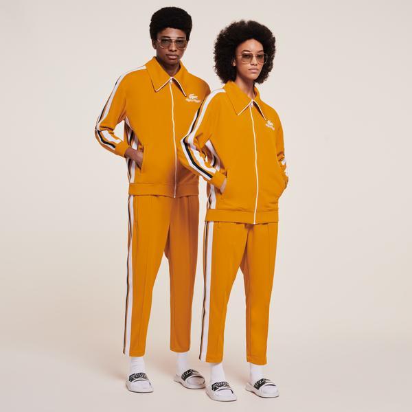 Lacoste x Ricky Regal Unisex Fermuarlı Sarı Sweatshirt