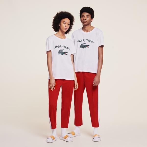 Lacoste x Ricky Regal Unisex Beyaz T-Shirt