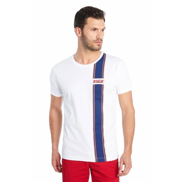 Ruck&Maul Erkek Beyaz T-shirt