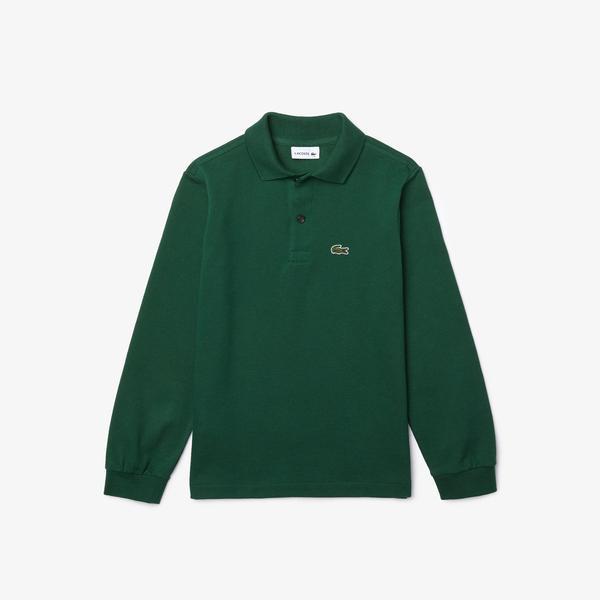 Lacoste Çocuk Uzun Kollu Yeşil Polo