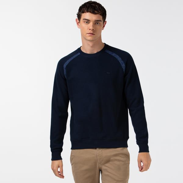 Lacoste Erkek Bisiklet Yaka Uzun Kollu Lacivert T-Shirt