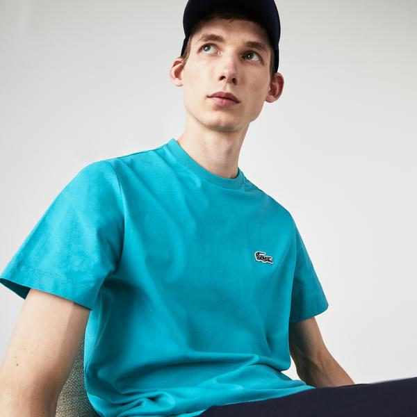 Lacoste x National Geographic Erkek Bisiklet Yaka Regular Fit Mavi T-Shirt