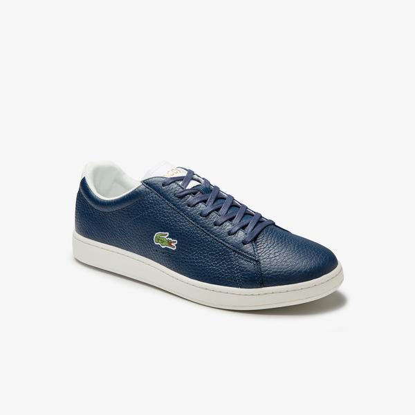 Lacoste Carnaby Evo 0120 2 Sma Erkek Deri Lacivert - Beyaz Sneaker