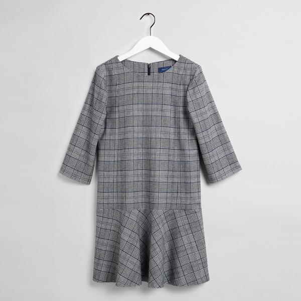 GANT Kadın Kareli Lacivert Elbise