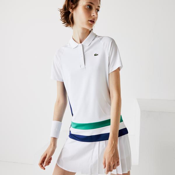 Lacoste Sport Kadın Blok Desenli Renkli Polo