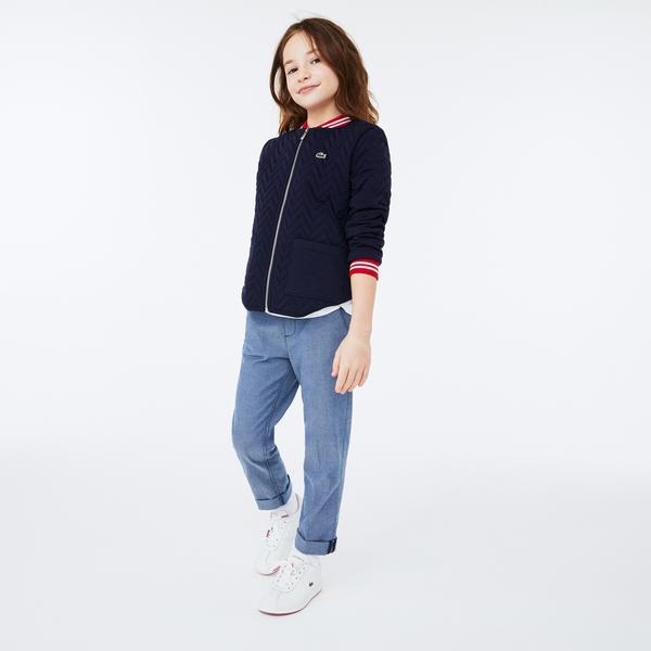 Lacoste Çocuk Fermuarlı Lacivert Sweatshirt
