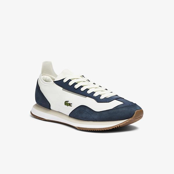 Lacoste Match Break 0721 1 G Sma Erkek Beyaz - Lacivert Spor Ayakkabı