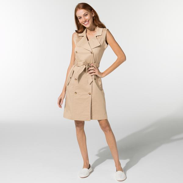 Nautica Kadın Bej Kolsuz Klasik Fit Elbise